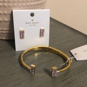 Never been worn Kate Spade bracelet and earrings